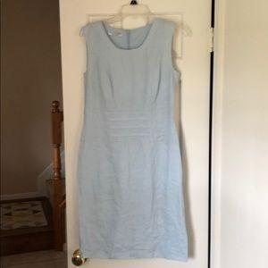Used, La Rochelle linen chambray sheath dressNWT for sale